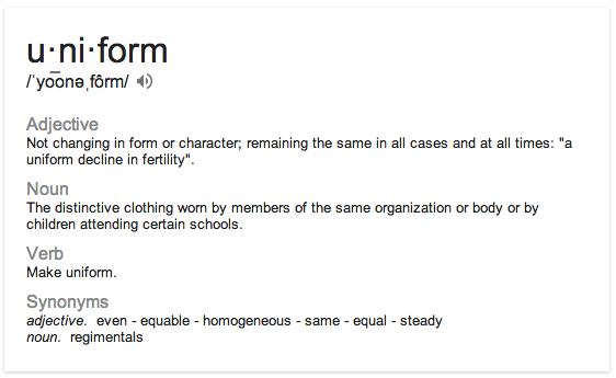 uniform definition