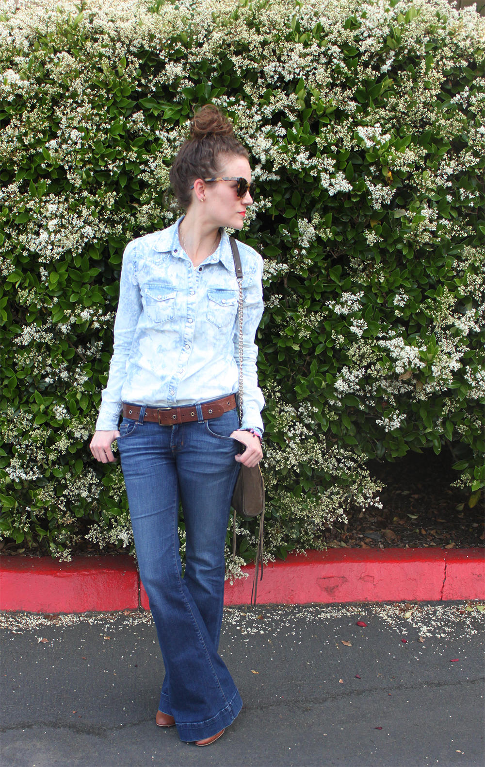 sf style blogger - kate franco - bleached denim - spring 2013