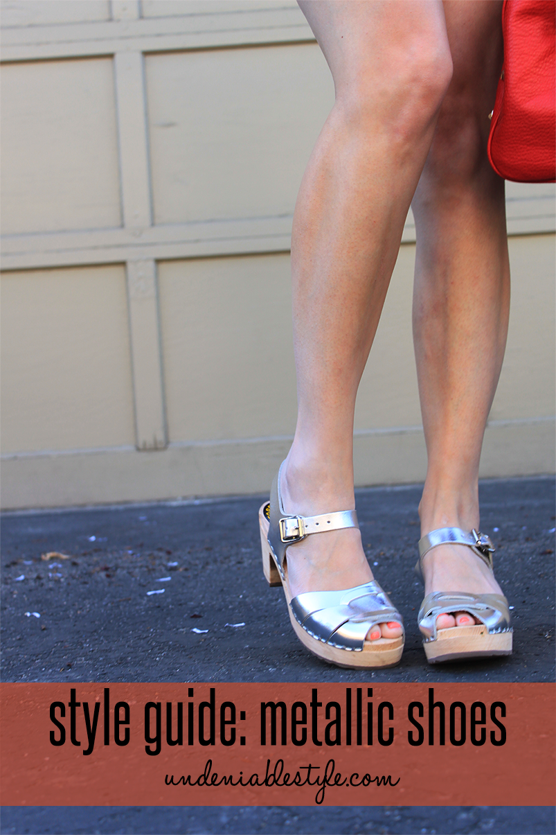 spring style metallic shoes