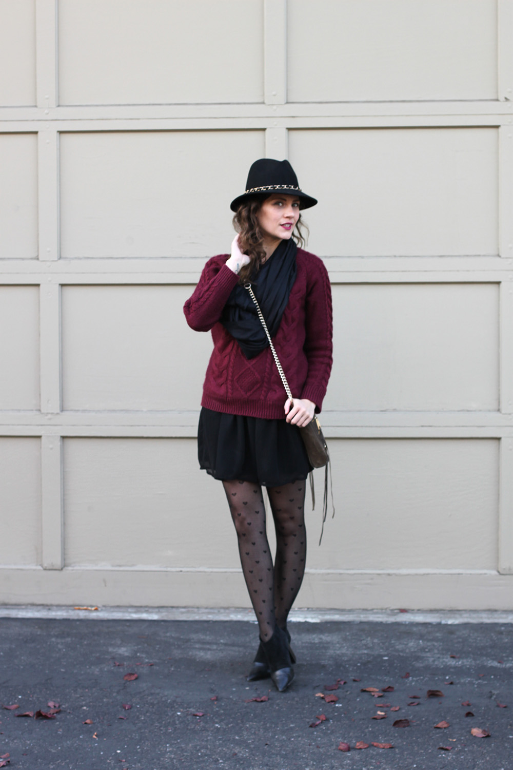Cable Knit Sweater Heart Tights Undeniable Style Undeniable Style