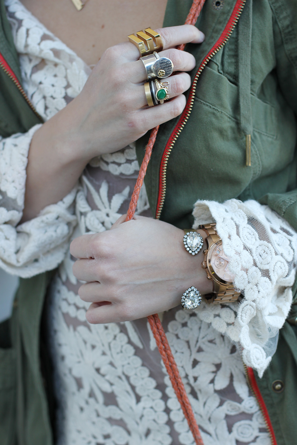 stacking rings, yes please! via undeniablestyle.com