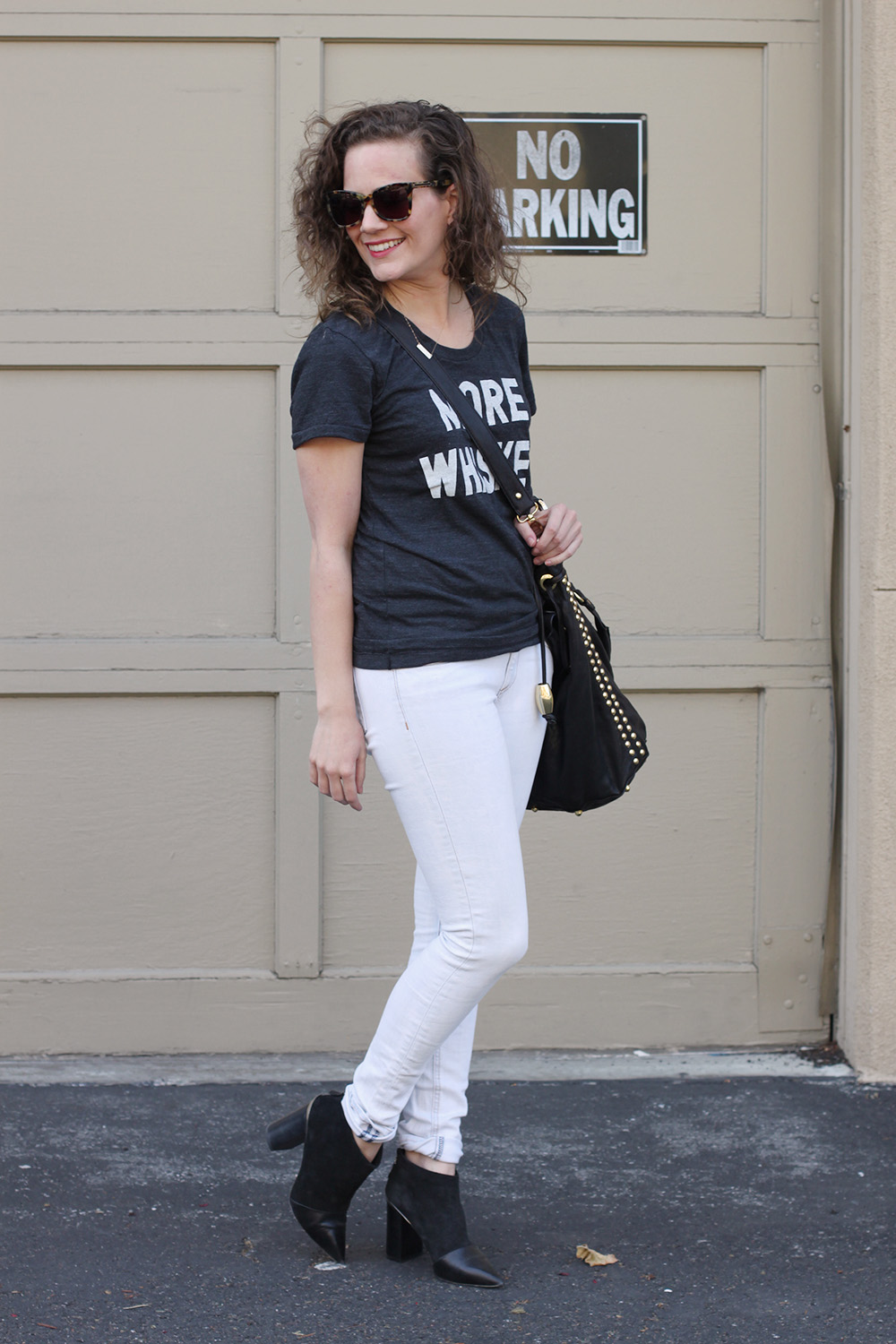 back to basics with print liberation's more whiskey tee! undeniablestyle.com