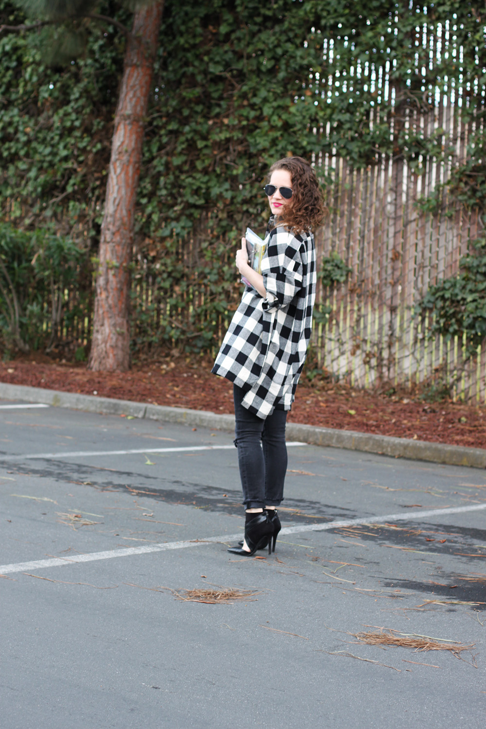 oversize buffalo plaid shirt on undeniable style.com