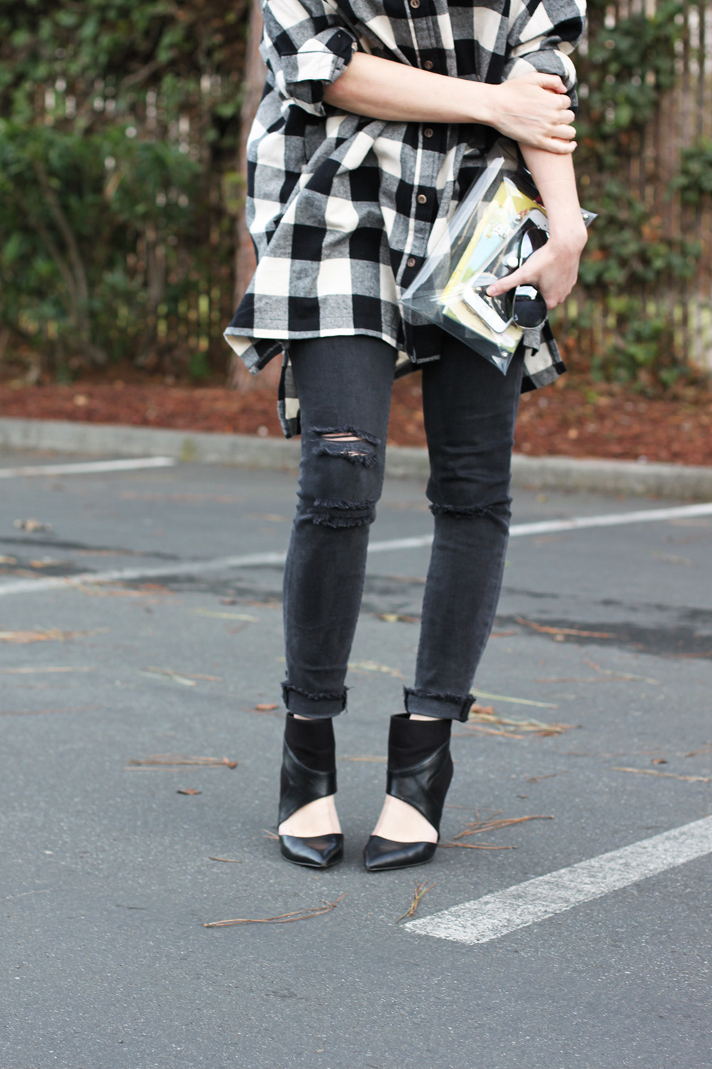 oversized buffalo plaid flannel shirt / dress
