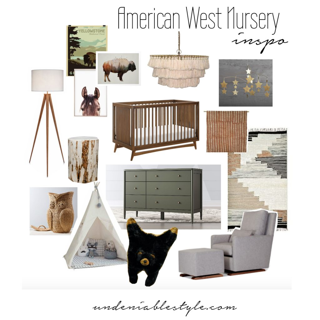 American West + Adventure Theme Nursery Inspo